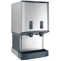 Scotsman HID540AB-1 Meridian Countertop Air Cooled Ice Machine and Water Dispenser with Push Button Dispensing - 40 lb. Bin Storage