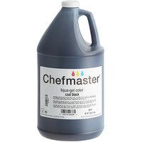 Chefmaster 1 Gallon Coal Black Liqua-Gel Food Coloring