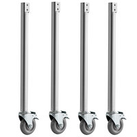 Avantco PCASTERS Locking Caster with Leg for Avantco 177STE Steam Tables - 4/Pack