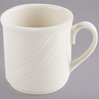 Homer Laughlin 6191000 Lyrica 8.25 oz. Ivory (American White) China Mug - 36/Case