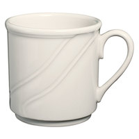 Homer Laughlin 6191000 Lyrica 8.25 oz. Ivory (American White) China Mug - 36/Case