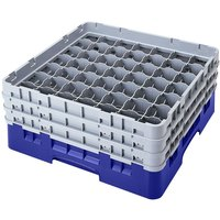 Cambro 49S318168 Blue Camrack 49 Compartment 3 5/8 inch Glass Rack