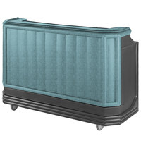 Cambro BAR730CP421 Granite Green and Black Cambar 73 inch Portable Bar with 7 Bottle Speed Rail and Cold Plate