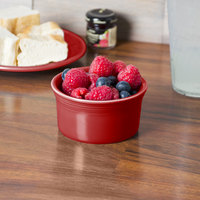 Homer Laughlin 568326 Fiesta Scarlet 8 oz. Ramekin - 6/Case