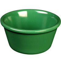 Thunder Group ML538GR1 Green 4 oz. Smooth Melamine Ramekin   - 12/Case