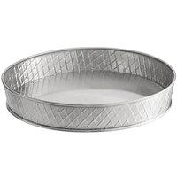 Tablecraft 10035 Lattice 10 1/2 inch Round Stainless Steel Platter