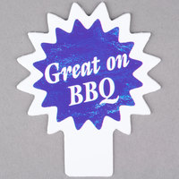 Deli Tag Topper - GREAT ON THE BBQ - Ocean Blue