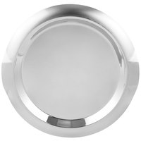 Vollrath 82098 Round Stainless Steel Serving Tray with Handles - 16 inch