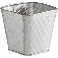 Tablecraft 10043 Lattice 20 oz. Square Stainless Steel Fry Cup