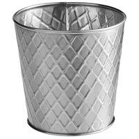 Tablecraft 10487 Lattice 23 oz. Round Stainless Steel Fry Cup