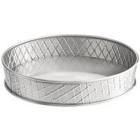Tablecraft 10034 Lattice 8 1/8 inch Round Stainless Steel Platter
