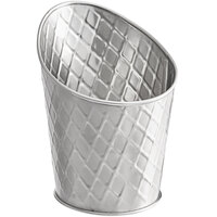 Tablecraft 10042 Lattice 10 oz. Angled Stainless Steel Fry Cup