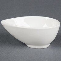 American Metalcraft PORB32 4 oz. White Egg-Shaped Porcelain Sauce Cup