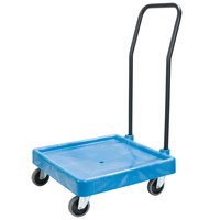 Carlisle C2236H14 Blue Polypropylene Rack Dolly with Handle