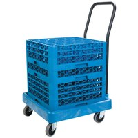 Carlisle C2236H14 Blue Polypropylene Rack Dolly with Handle