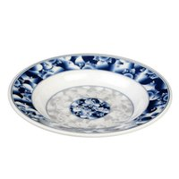 Blue Dragon 7 oz. Round Melamine Soup Plate - 12/Pack