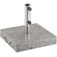 Lancaster Table & Seating 110 lb. Granite Square Concrete Umbrella Base