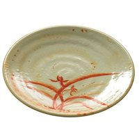 Thunder Group 1707 Gold Orchid 7 1/2 inch Round Melamine Plate - 12/Pack