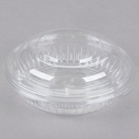 Dart PET8BCD PresentaBowls 8 oz. Clear Plastic Bowl with Dome Lid - 252/Case