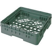 Cambro BR414119 Sherwood Green Camrack Customizable Full Size Open Base Rack with 1 Extender