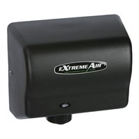 American Dryer EXT7-BG ExtremeAir Automatic Unheated Hand Dryer with Steel Black Cover - 100/240V, 540W