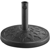Lancaster Table & Seating 28 lb. Black Round Resin Umbrella Base