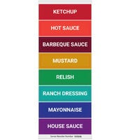 Server 100246 Condiment Decals for Touchless Express Series Condiment Dispensers