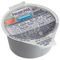 Philadelphia 1 oz. Reduced Fat Cream Cheese Spread Portion Cup - 100/Case