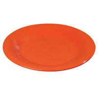 Carlisle 4301252 Durus 9 inch Sunset Orange Wide Rim Melamine Dinner Plate - 24 / Case