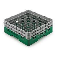 Cambro 16S958-119 Camrack Customizable 10 1/8 inch High Customizable Green 16 Compartment Glass Rack