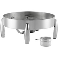 Acopa Manchester 6 Qt. Round Induction Chafer Stand with Fuel Holder