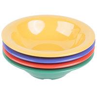 GET B-127 MIX Diamond Mardi Gras 12 oz. Melamine Bowl, Assorted Colors - 24/Case