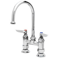 13 1/2 inch T&S B-0325 Deck Mounted Swivel Gooseneck Faucet with 4 inch Centers