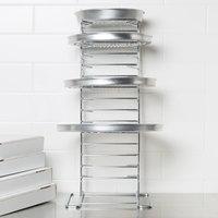 15 shelf pizza pan rack assembled