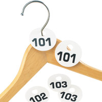 Cal-Mil 869-1 Round Plastic Coat Check Tag Set - 101-200