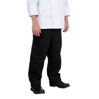 Chef Revival Unisex Solid Black Baggy Chef Pants - Medium