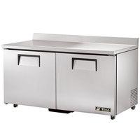 True TWT-60-ADA Refrigerator Two Door Work Top Refrigerator ADA Compliant 15.5 cu. ft.