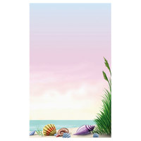 8 1/2 inch x 14 inch Menu Paper - Seafood Themed Coral Design Right Insert - 100/Pack