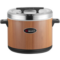 Emperor's Select 100 Cup Insulated Sushi Rice Container with Woodgrain Finish