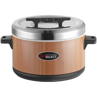 Emperor's Select 60 Cup Insulated Sushi Rice Container with Woodgrain Finish