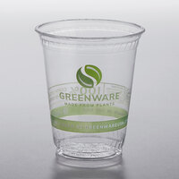 Fabri-Kal GC7 Greenware 7 oz. Compostable Printed Plastic Cold Cup - 1000/Case