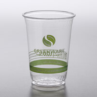 Fabri-Kal GC10 Greenware 10 oz. Compostable Printed Plastic Cold Cup - 1000/Case