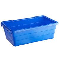 Choice 25 inch x 15 inch x 8 inch Blue Meat Lug / Tote Box