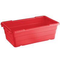 Choice 25 inch x 15 inch x 8 inch Red Meat Lug / Tote Box