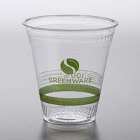 Fabri-Kal GC12 Greenware 12 oz. Compostable Printed Plastic Cold Cup - 1000/Case