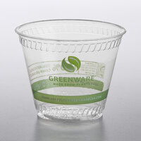 Fabri-Kal GC9 Greenware 9 oz. Compostable Printed Plastic Cold Cup - 1000/Case