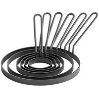 Vigor Non-Stick Egg Rings with Gray Coated Handle - 6/Pack