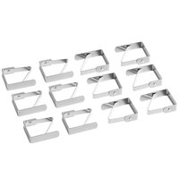 Choice Stainless Steel Tablecloth Clip - 12/Pack
