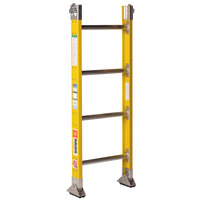 Bauer Corporation 33324 333 Series Type 1A 4' Parallel Rail Sectional Ladder Base Section with 2-Way Shoes - 300 lb. Capacity - 17 3/4 inch Wide