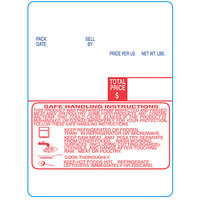 Digi 1518-S/H 60 mm x 80 mm White Safe Handling Pre-Printed Equivalent Scale Label Roll - 3/Case